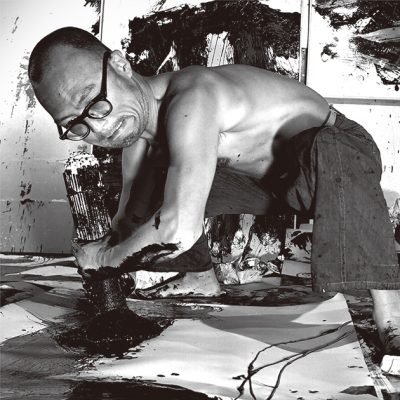 INOUE YUICHI at work in his studio japan