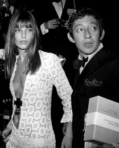jane birking with serge gainsbourg boho chic style