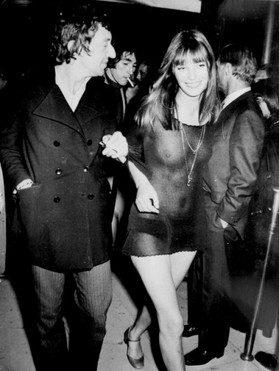 jane birking with serge gainsbourg see through style
