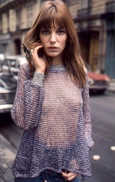 jane birkin seethrough putfit in the streets of paris