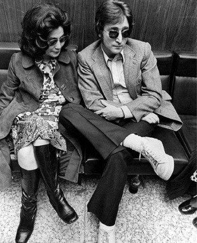 john lennon and yoko ono in spring cour shoes