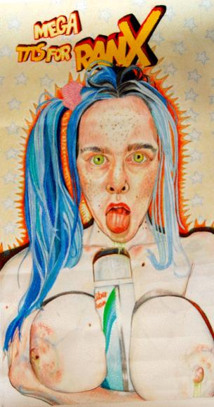 MARÍA FORQUÉ self portriat