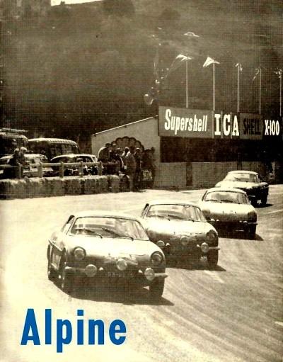 RENAULT ALPINE A110 collectors vintage catalogue