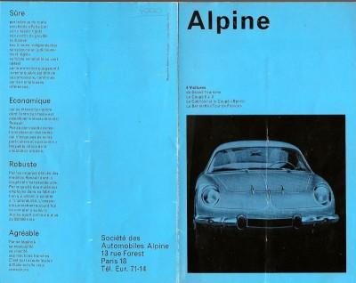 RENAULT ALPINE A110 manual