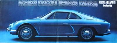 RENAULT ALPINE A110 vintage magazine ad
