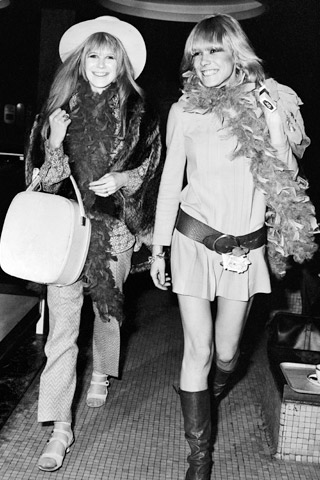 Anita pallemberg here with Jagger's girl, Marianne Faithful.