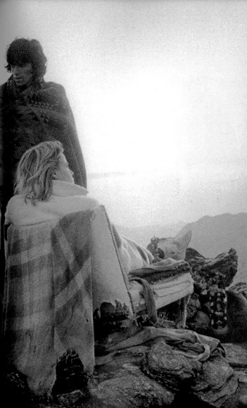 Anita Pallemberg, Keith Richards and Gram Parsons from the Birds at Joshua Tree, 1969.