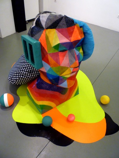 okuda artwork sculpture headphones