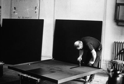 Ad Reinhardt at work