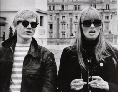 nico with andy warhol