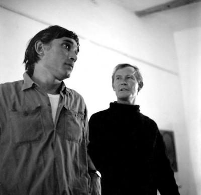 Carl Van Der Voort and Pierre Dmitrienko, 1964 in his ibiza gallery