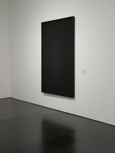 artist AD REINHARDT black painting new york