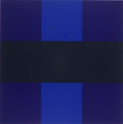 artist AD REINHARDT blue artwork