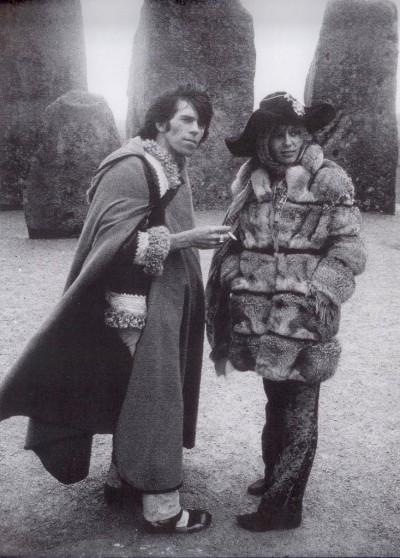 Anita Pallemberg, Keith Richards at Stonehenge, April 1968.