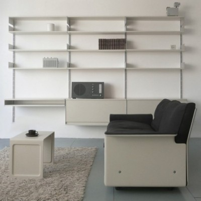 Dieter Rams design office furniture book shelve, coffe table and sofa