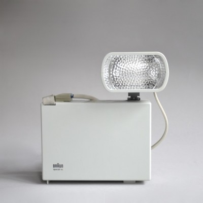 Dieter Rams design industrial braun photo camera with flash