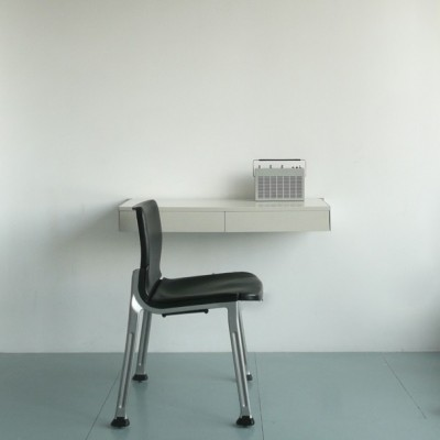 Dieter Rams design industrial chair and desk radio
