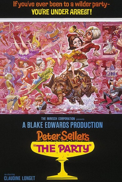 The party film poster blake edwards peter sellers film poster