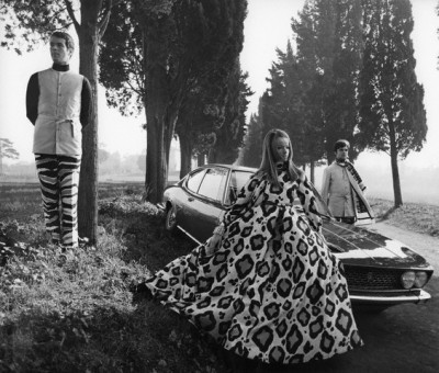 Veruschka with car