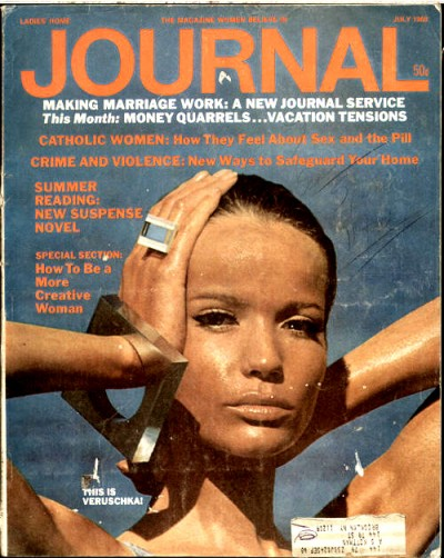 Veruschka on journal magazine cover