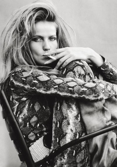 Veruschka snake jumper smoking