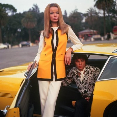 Veruschka yellow ford mustang