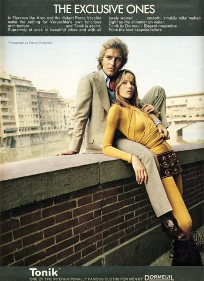 Veruschka vintage magazine ad