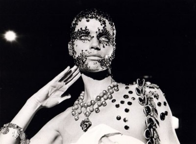 Veruschka gems nad beeds all over her body