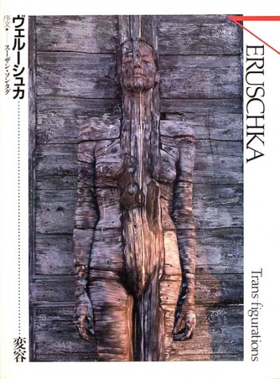 Veruschka transfigurations body painting blending into a wood door