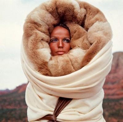 Veruschka in furs