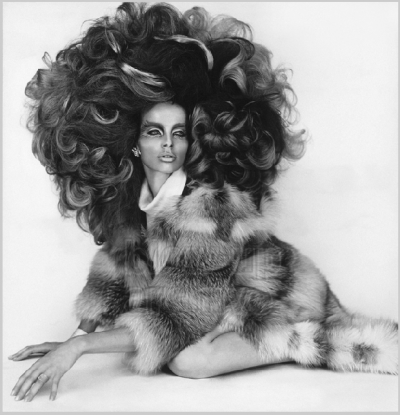 Veruschka big hair radical eye make up