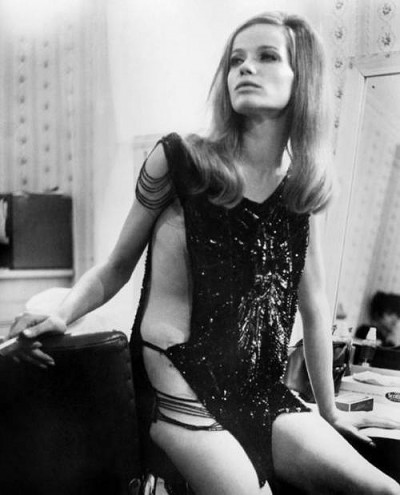 Veruschka in film blow up set