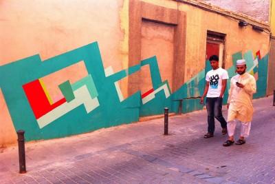 nuria mora abstract garaffity city wall