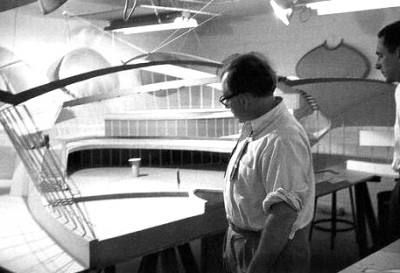 TWA terminal model, Eeero Saarinen