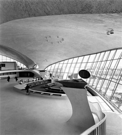 main lobby TWA terminal, Eeero Saarinen