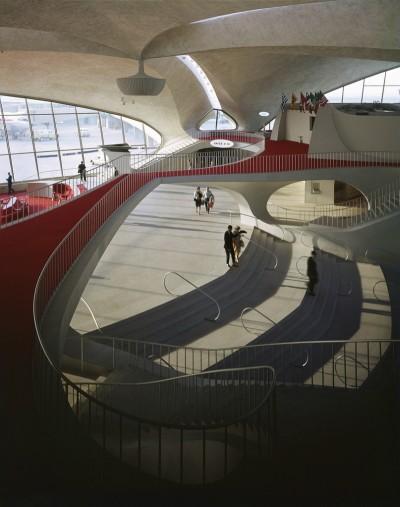 interior TWA terminal, Eeero Saarinen