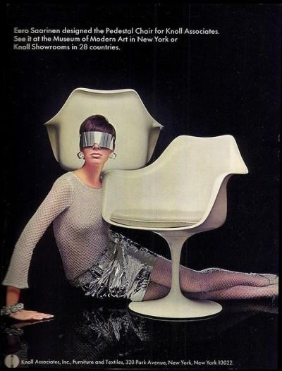 eero sarien knoll chair vintage magazine ad