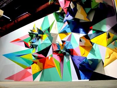 nuria mora paper mural