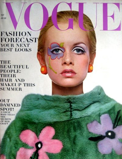 Vogue Twiggy June 1967 cover girl.