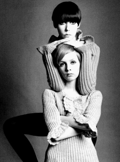 twiggy With fellow model and style icon Peggy Moffitt.