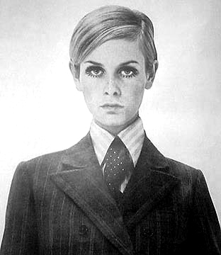 twiggy in a man suit