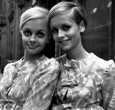Twiggy and Swedish model nicknamed 'Crumb', 1967.