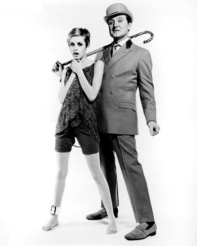 Twiggy and Patrick Macnee from the sixties spy-fi British television series The Avengers