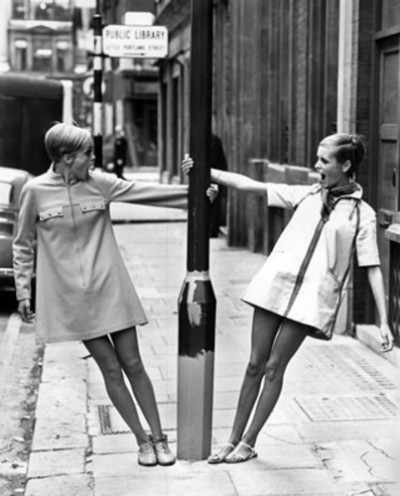 twiggy street shooting london 60s