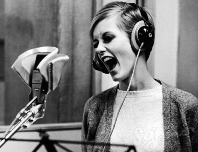 twiggy recording in the studios