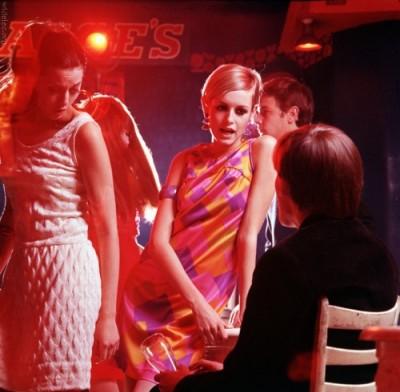 1971, Twiggy on the set of The Boy Friend.