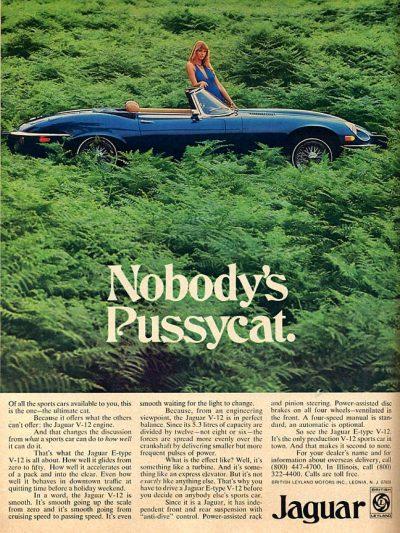 jaguar e type vintage magazine ad 70s