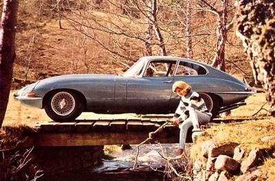 jaguar e type vintage magazine ad