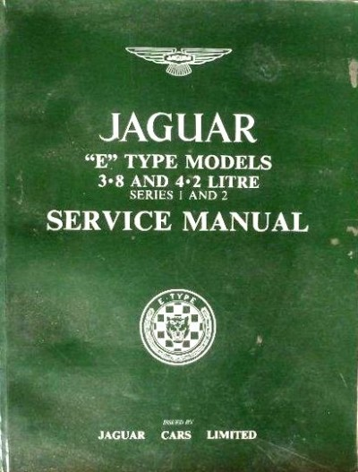 jaguar e type model service manuañ