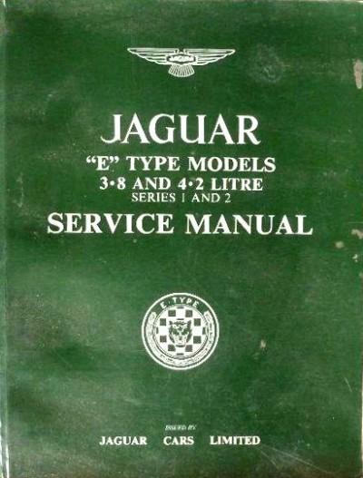 jaguar e type model service manuañ
